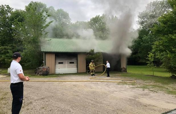 Structure Fire at Edwards Auto
