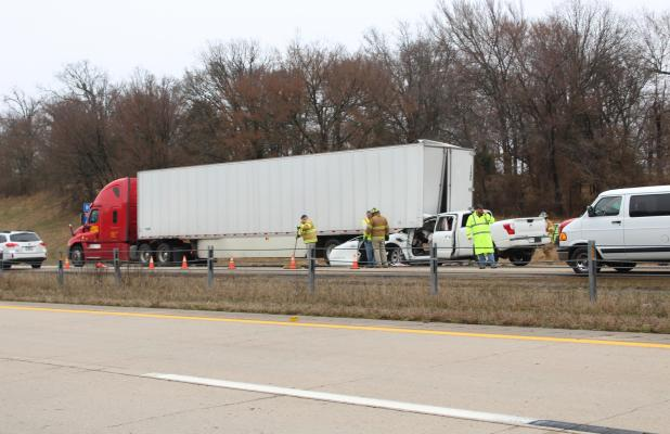 Fout in Critical Condition After Striking Freightliner on I-40